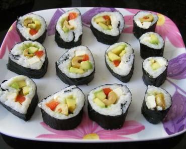 Plato con Makis de Sushi
